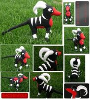 Houndoom Plush - NO FAV by PokePlushProject