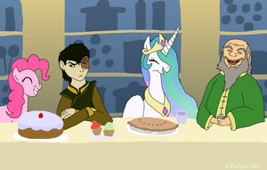 Trans-Dimensional Tea Party by bibliodragon