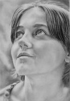 Pencil portrait of 'Angel' by LateStarter63