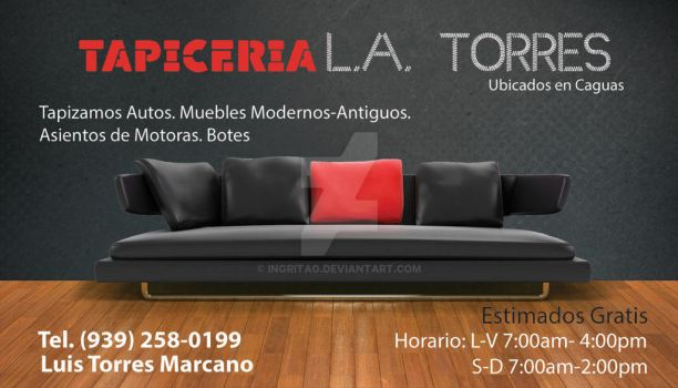 Business Card: Tapiceria L.A. Torres by IngritaG
