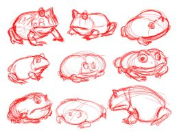 Pac Man Frogs by TR-the-Animator