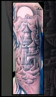 Castle Tattoo by catbones