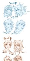 CC: JM Headshot sketches by cherubchan
