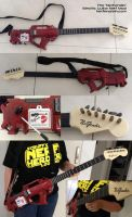NerFender Nerf Rayven electric guitar gun mod by GirlyGamerAU