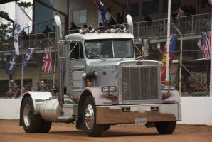 Imported Peterbilt Tractor on parade by RedtailFox