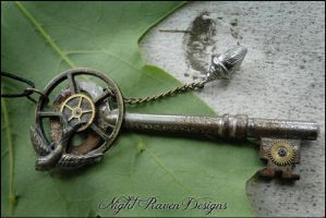 Nature Steampunk Key by TheClockworkCrow