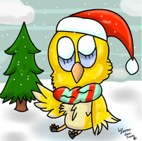 Christmas Chick by dragonrace