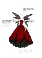 Goth wings wedding dress by silverhippo