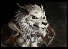 Genn Greymane - World of Warcraft by AshSkye