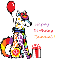 happy birthday tsunamii by icewolf25
