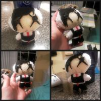Frank Iero chibi plushie by sex-on-toast