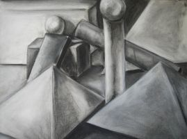 Black and White Geometric Still Life by cusT0M