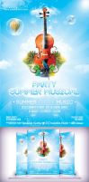 Summer Musical Party Flyer by Cata05