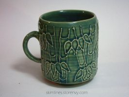 Short and Wide Bamboo Mug by skimlines