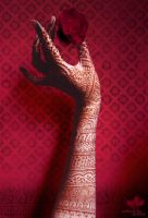 red mehandi by MehandiArtist