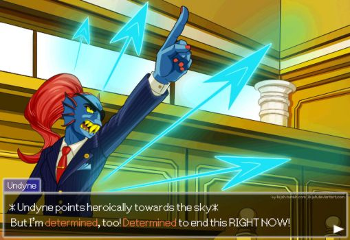 Cornered - Undyne: Ace Attorney by iisjah