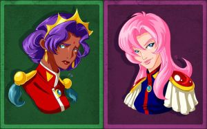 Utena and Anthy Busts by CapnFlynn