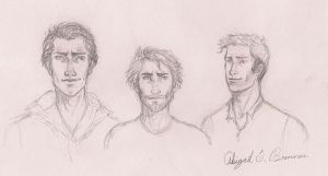 faces: guys by LifeUpsideDown