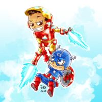 Hold on tight Cap! by Rory221B