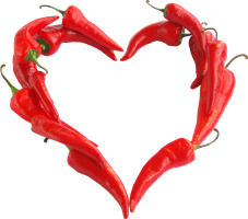 Chili pepper heart clipart by EXOstock