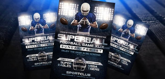 Superbowl or College Football Game Flyer PSD by LouisTwelve-Design