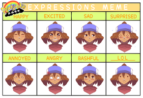 PKJP: Expressions Meme by MayomiCCz