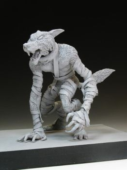 The WolfMan... In Clay by moefoe