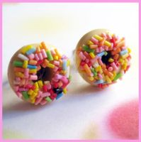 Donut Stud Earrings 2 by cherryboop