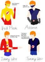 OCs Johnny West/ KidFlash Tommy West/Arcana by monkeyartist30654