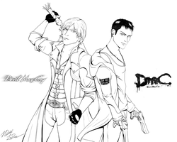 Devil May Cry Old vs New by nicolabuckleyart