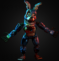 C4D|Model| Nightmare Toy Bonnie by YinyangGio1987
