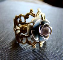 Rose Cocktail Ring by BellaLiliJewelry