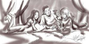 GOT9: Slumber Party by laurbits
