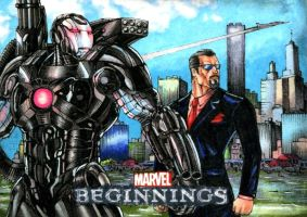 War Machine and Tony Stark MB2 by DKuang