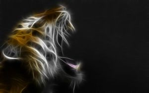 Tiger fractal wallpaper by oo0d3v1l0oo