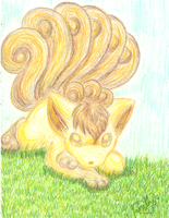 Shiny Vulpix Appeared by StarGazingKitten