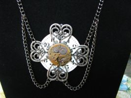 Steampunk Necklace Watch Face by bcainspirations