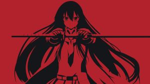 Akame Wallpaper (Akame ga Kill) Red Ver. by Viidify