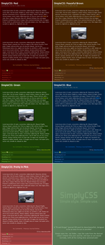 SimplyCSS: Multi-Colour Pack by Davecheesefish