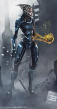 Female Turian on the Palaven by SereNNa666