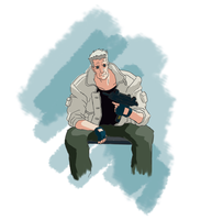 Ghost in the Shell. Batou by Apelsin-kun
