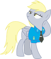 Derpy Hooves in Suit by thecarbonmaestro