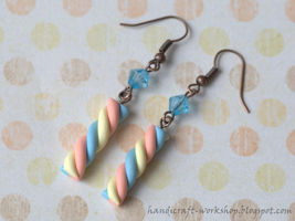 Marshmallow earrings by Panna-Kot