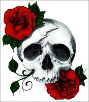 Rose Skull by A-midza