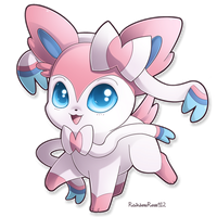 Chibi Sylveon by RainbowRose912