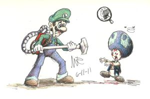 Luigi and the Poltergust by Marioshi64