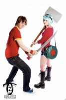 Scott and Ramona cosplay by sparr0
