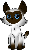 Little Siamese Cat by BabyWitherBoo