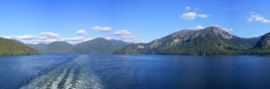 Whale Channel Panoramic by Ubhejane
