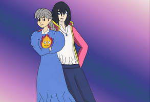 Commission: Howl and Sophie by reaver570